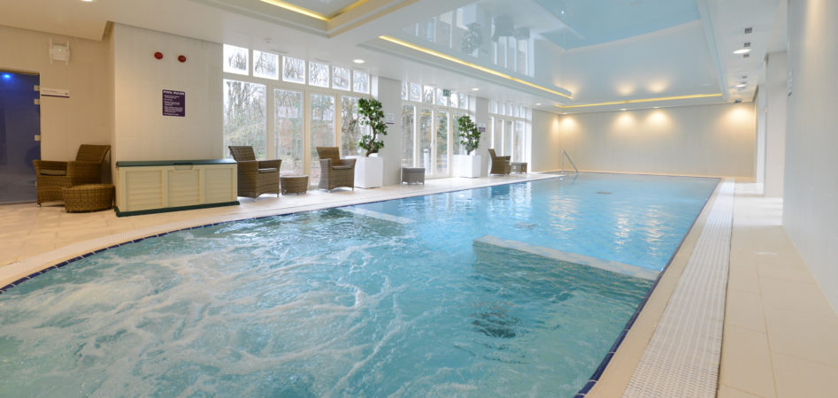 A swimming pool at Anchor's award winning retirement scheme, Hampshire Lakes