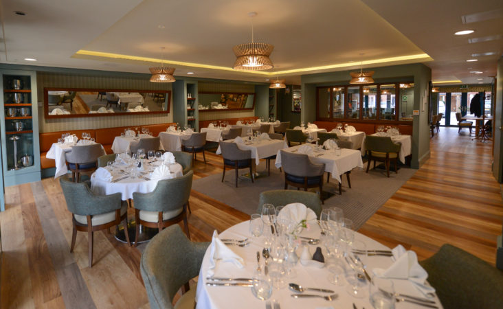 Dining Room at reirement scheme at Hampshire Lakes, Hampshire