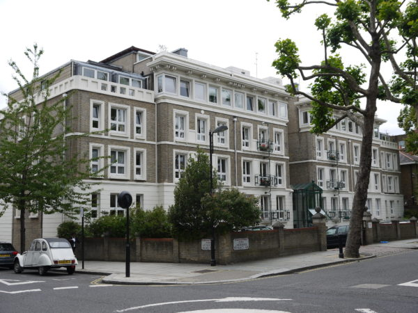 external of BUPA scheme at Notting Hill gate