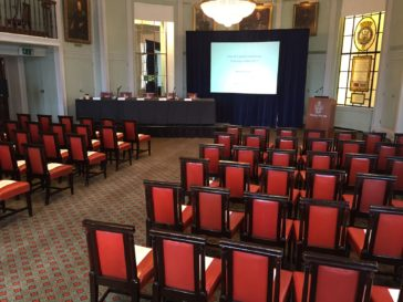 Library set for conference, Trinity House